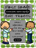 First Grade Exit Tickets Bundle (Everyday Math)
