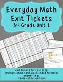 Everyday Math Exit Tickets: Grade 3 Unit 1