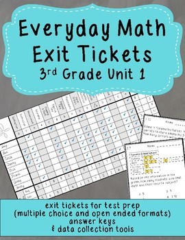 Everyday Math Exit Tickets: Grade 3 Unit 1