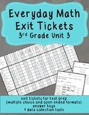 Everyday Math Exit Tickets: Grade 3 Unit 3