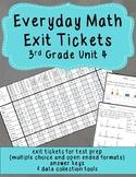 Everyday Math Exit Tickets: Grade 3 Unit 4