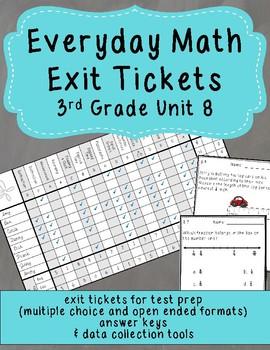 Everyday Math Exit Tickets: Grade 3 Unit 8