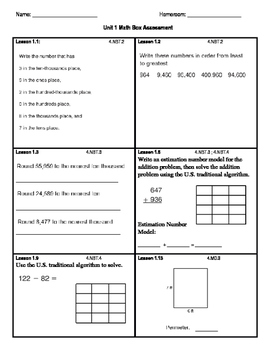 Everyday Math FOURTH EDITION Math Box Unit 1