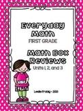Everyday Math: First Grade Math Box Reviews (Units 1, 2, and 3)