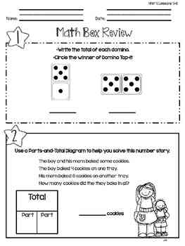 Everyday Math: First Grade Math Box Reviews (Units 4 and 5)