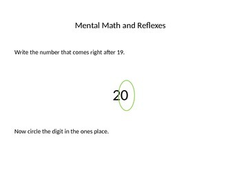Everyday Math First Grade PowerPoint Lesson 5.6