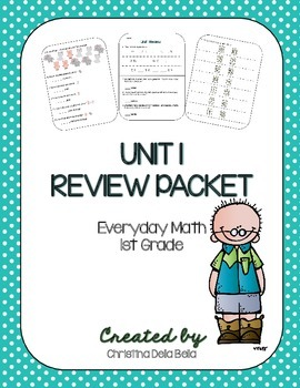 Everyday Math First Grade Unit 1 Review Packet
