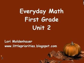 Everyday Math First Grade Unit 2 Flipchart