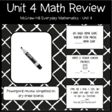 Everyday Math First Grade Unit 4  PowerPoint Review