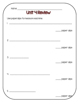 Everyday Math First Grade Unit 4 Review Packet