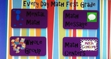 Everyday Math First Grade Unit 7