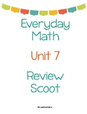 Everyday Math First Grade Unit 7 Review Scoot