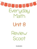Everyday Math First Grade Unit 8 Review Scoot