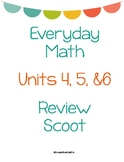 Everyday Math First Grade Units 4-6 Review Scoot