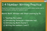 Everyday Math: Grade 1: 1-4 Number Writing Practice