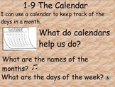Everyday Math: Grade 1: 1-9 The Calendar