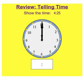 Everyday Math, Grade 1 – Lesson 10.2: Review - Telling Time