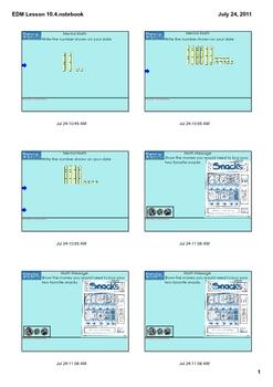 Everyday Math Grade 1 Lesson 10.4
