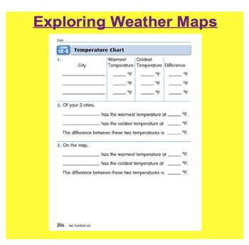 Everyday Math, Grade 1 – Lesson 10.6: Review - Thermometers and Temperature