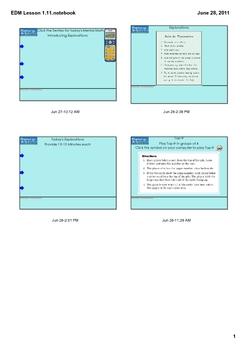 Everyday Math Grade 1 Lesson 1.11
