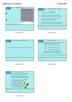 Everyday Math Grade 1 Lesson 1.2