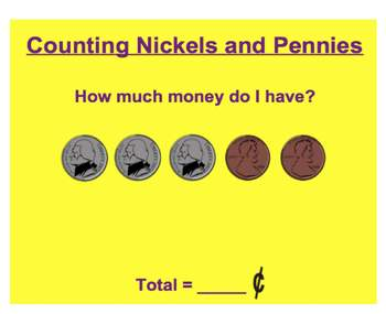 Everyday Math, Grade 1 – Lesson 2.10: Counting Pennies and Nickels