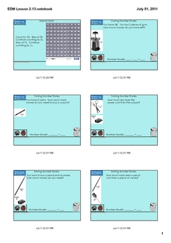 Everyday Math Grade 1 Lesson 2.13