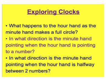Everyday Math, Grade 1 – Lesson 2.5: Analog Clocks