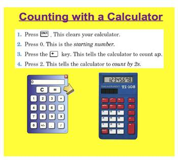 Everyday Math, Grade 1 – Lesson 3.10: Counting With a Calculator