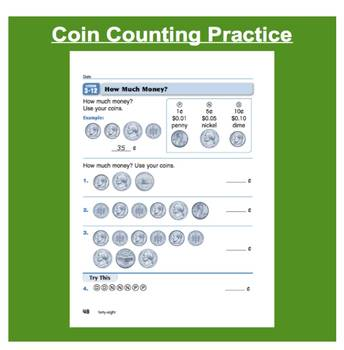 Everyday Math, Grade 1 – Lesson 3.12: Counting Dimes, Nickels, and Pennies