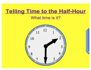 Everyday Math, Grade 1 – Lesson 3.7: Telling Time to the Half-Hour
