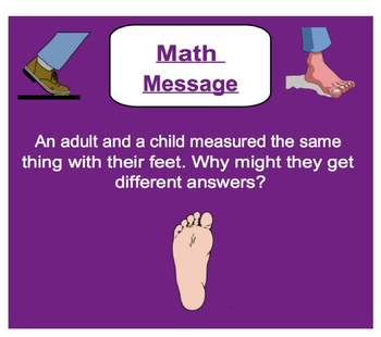 Everyday Math, Grade 1 – Lesson 4.3: Personal Foot and Standard Foot