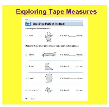 Everyday Math, Grade 1 – Lesson 4.6: Measuring with a Tape Measure