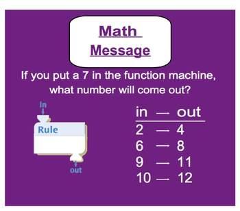 Everyday Math, Grade 1 – Lesson 5.13: Applying Rules