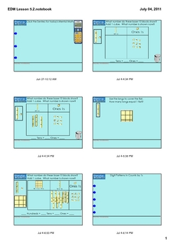 Everyday Math Grade 1 Lesson 5.2