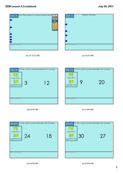 Everyday Math Grade 1 Lesson 5.3