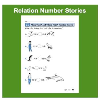 Everyday Math, Grade 1 – Lesson 5.6: More Than and Less Than Number Stories