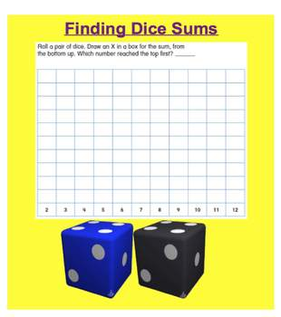Everyday Math, Grade 1 – Lesson 5.9: Dice Sums