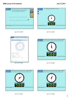 Everyday Math Grade 1 Lesson 6.10