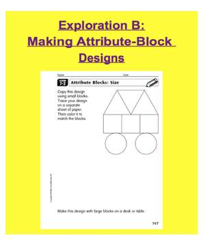 Everyday Math, Grade 1 – Lesson 7.2: Exploring Attributes, Designs &FactPlatters