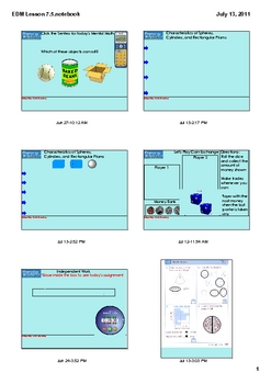 Everyday Math Grade 1 Lesson 7.5