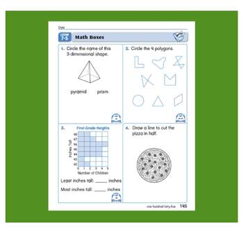 Everyday Math, Grade 1 – Lesson 7.5: Spheres, Cylinders, and Rectangular Prisms