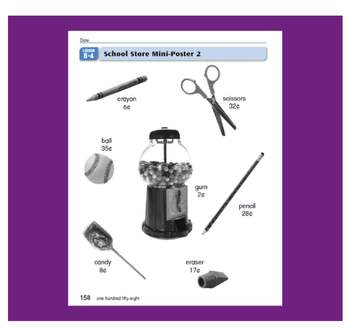 Everyday Math, Grade 1 – Lesson 8.4.: Application - Shopping at the School Store