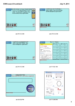 Everyday Math Grade 1 Lesson 8.5