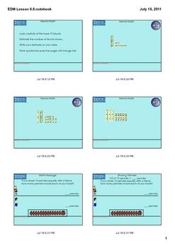Everyday Math Grade 1 Lesson 8.8