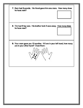 Everyday Math Grade 1 Unit 1 Pretest and Review