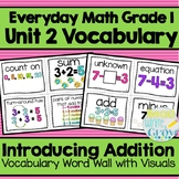 Everyday Math: Grade 1-Unit 2 {Vocabulary Word Wall}