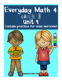 Everyday Math Grade 1 Unit 4 Practice Tests