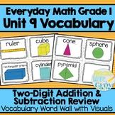 Everyday Math: Grade 1-Unit 9 {Vocabulary Word Wall}
