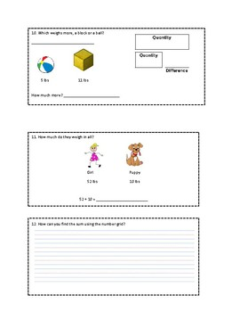 Everyday Math Grade 1 Unit 5 Review